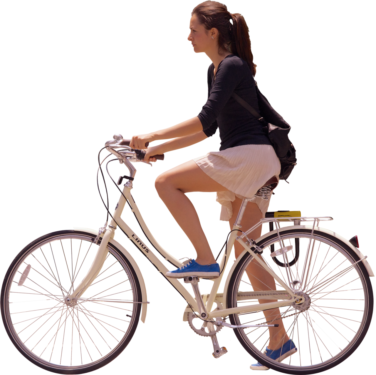 Girl Ride Bicycle PNG Image