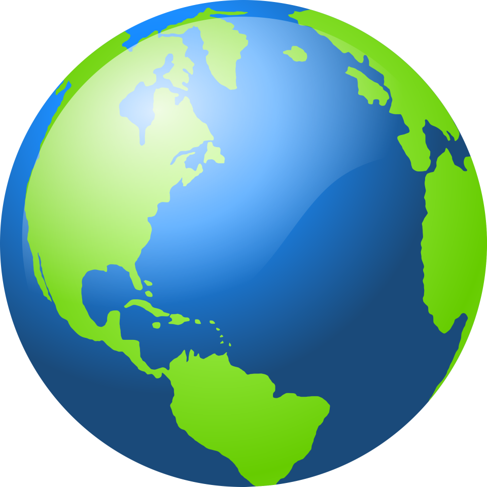 Blue and Green Globe PNG Image