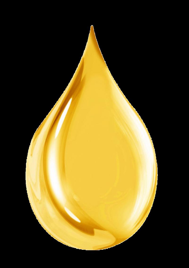 Golden Water drop PNG Image