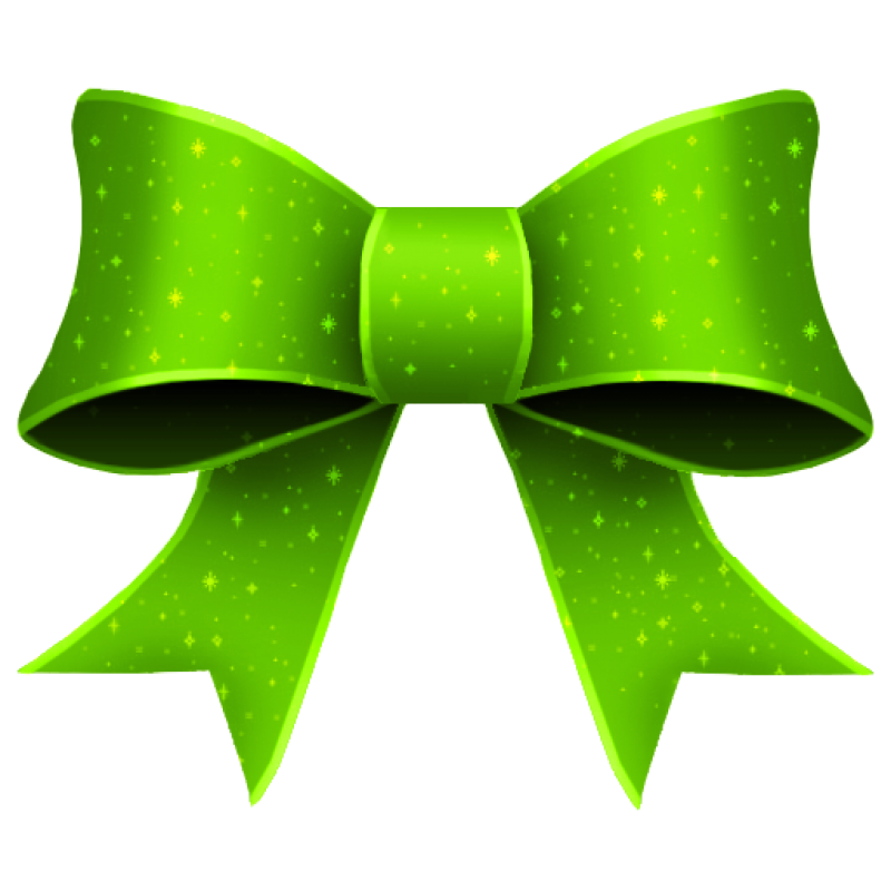 Green Bow PNG Image