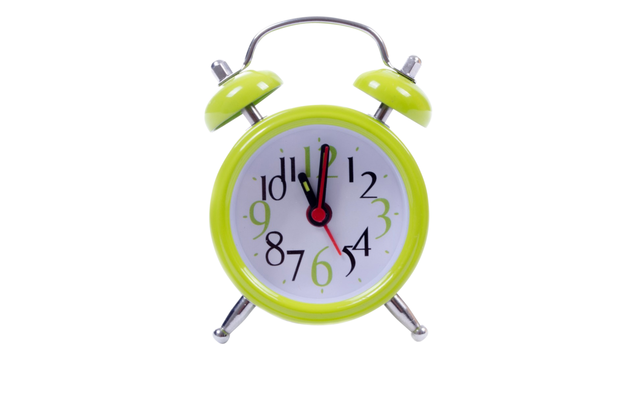 Green Cute Clock PNG Image