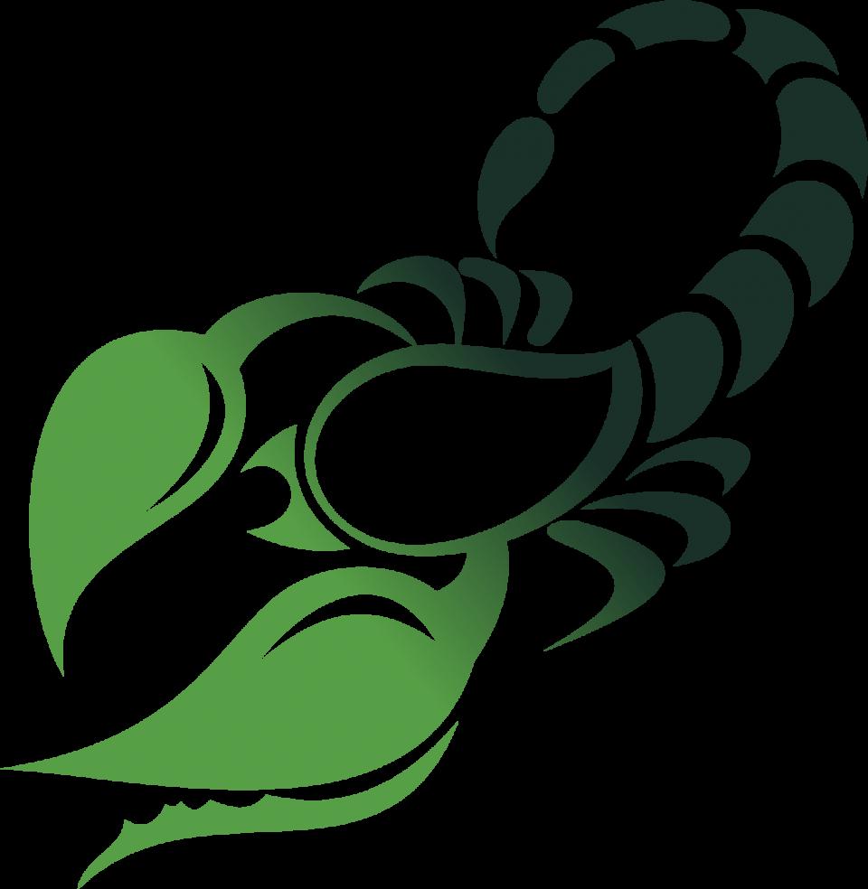 Green Scorpio Symbol PNG Image