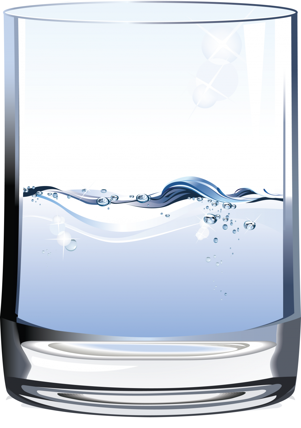 Half Water Glass PNG Image