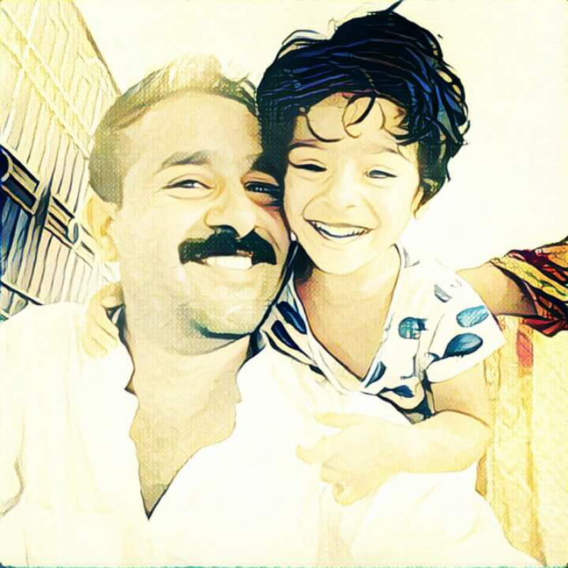 Happy Father and Daughter Smiles PNG Image