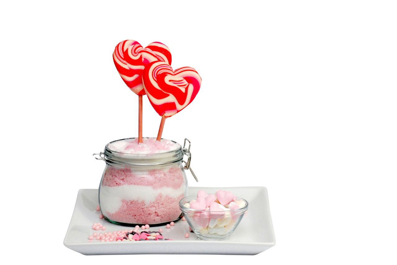 Heart candies and Marshmallow PNG Image
