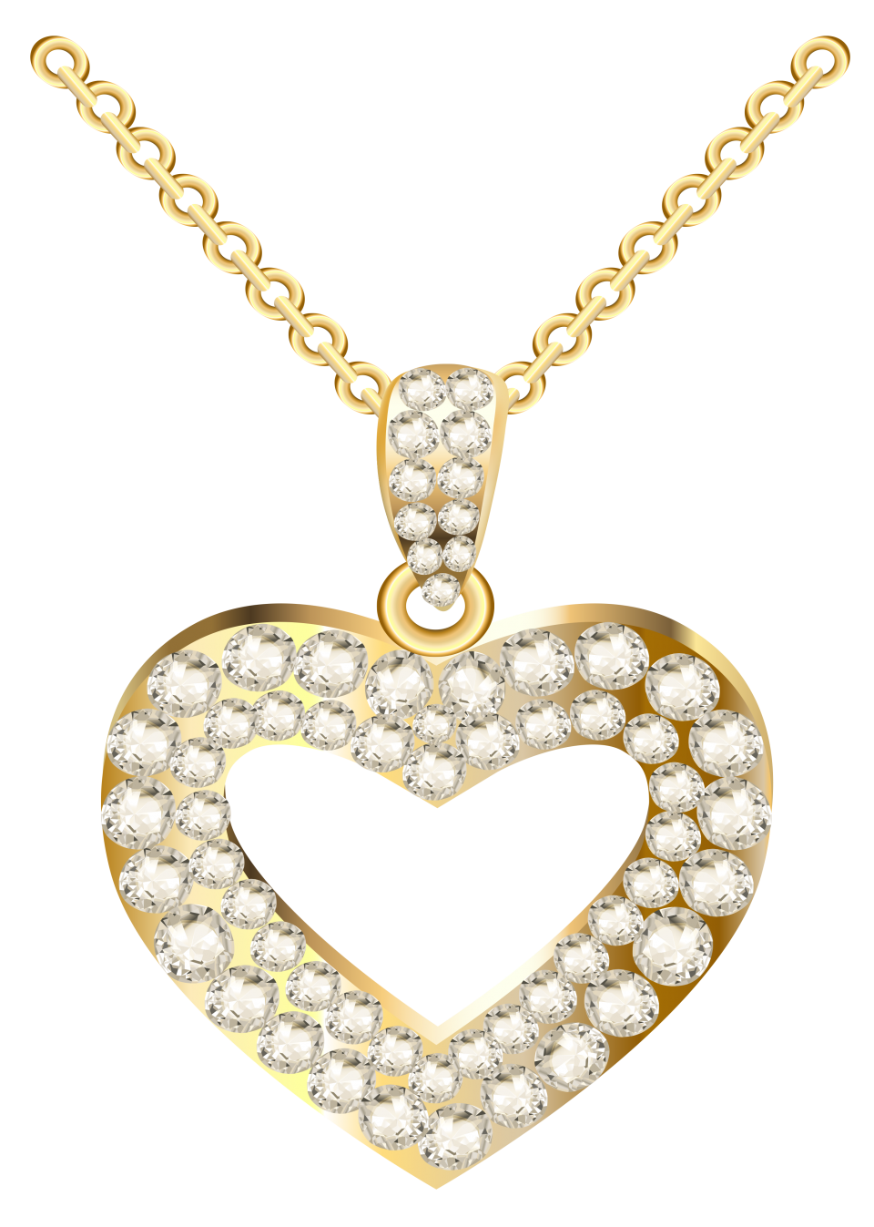 Heart Necklace for Women PNG Image