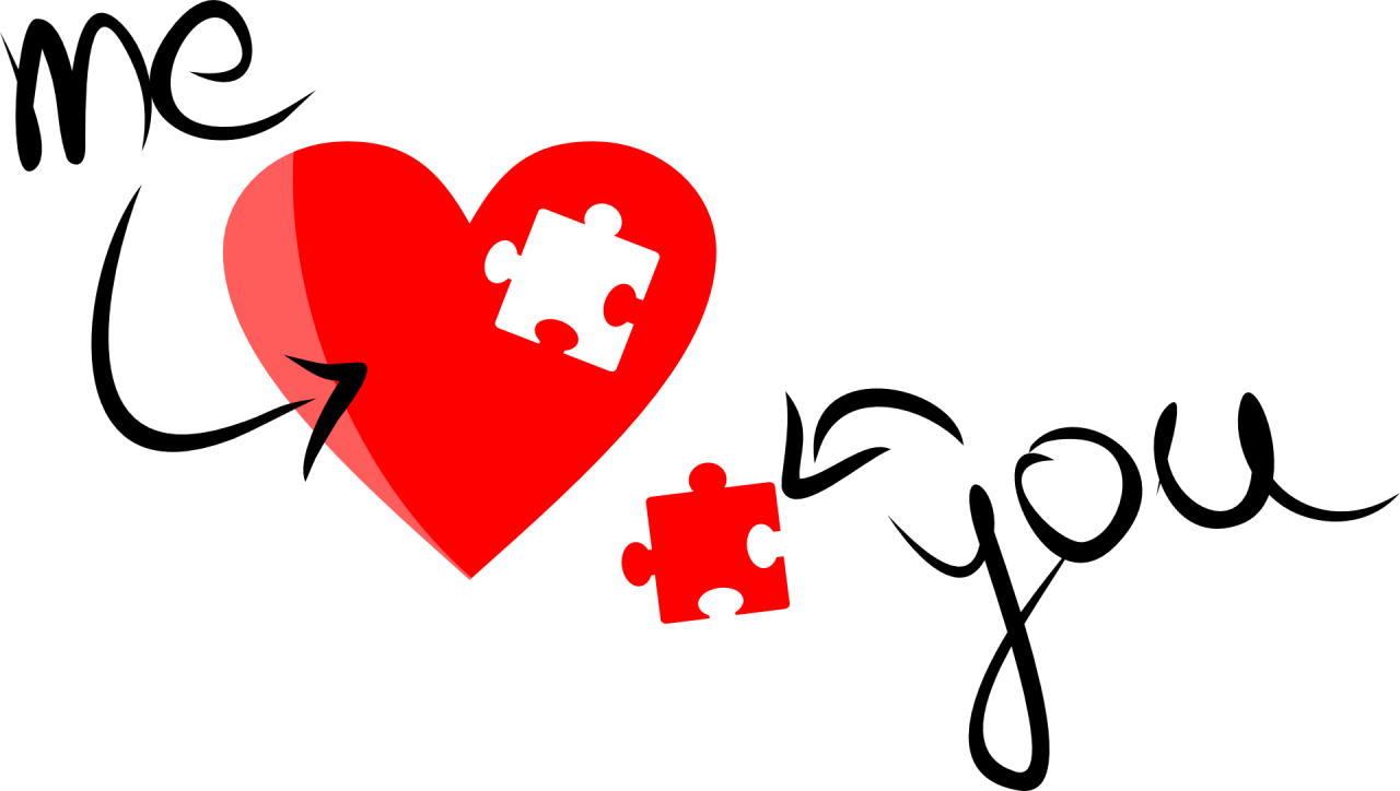 Heart Puzzle PNG Image