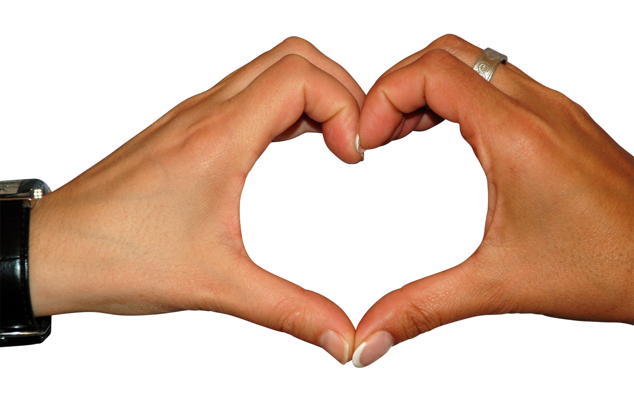 Heart with Fingers PNG Image