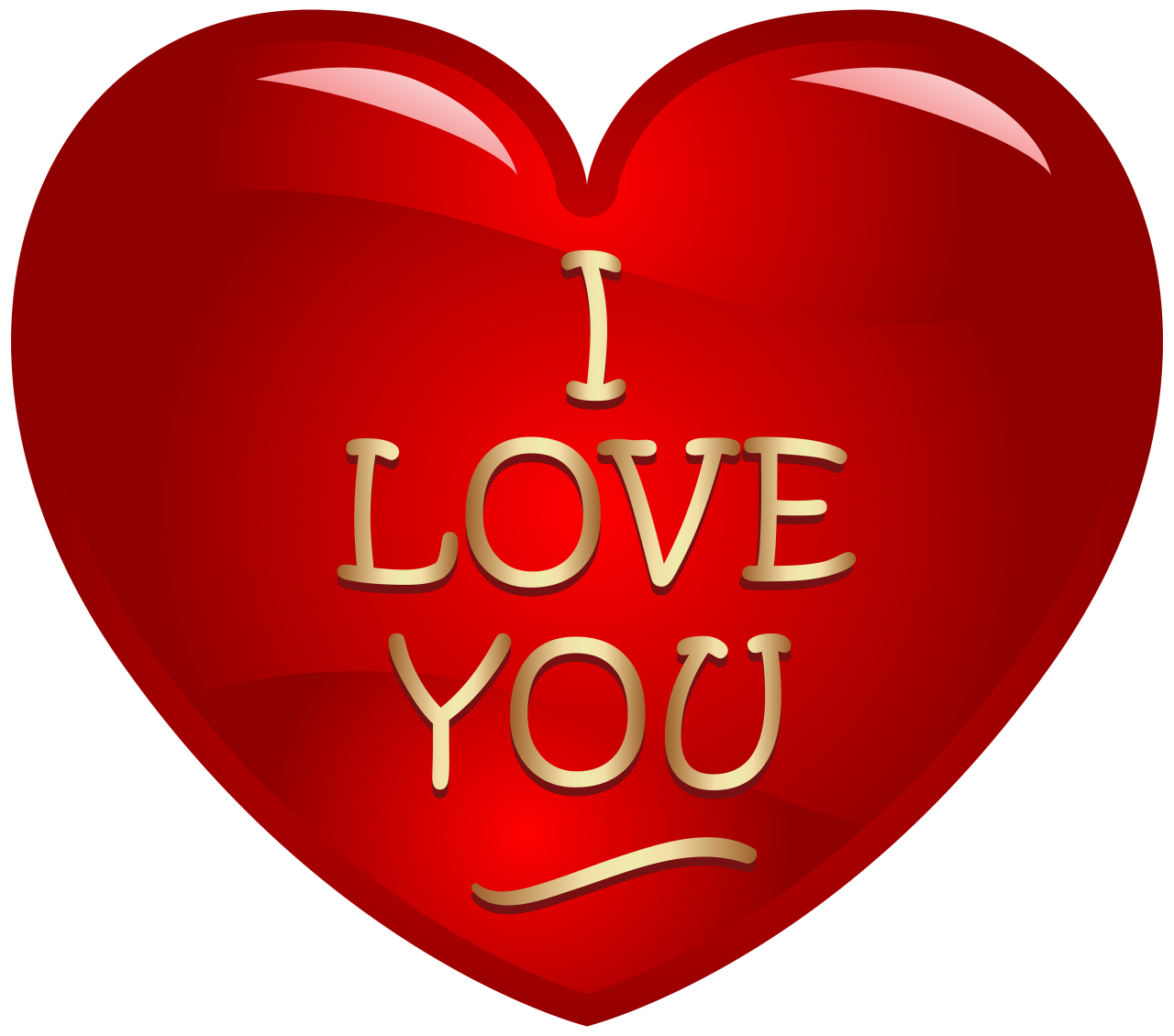 I Love You Written in Heart PNG Image