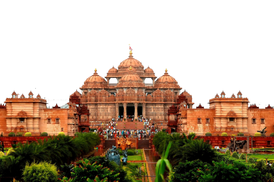 Public Building in India - People Gathered PNG Image