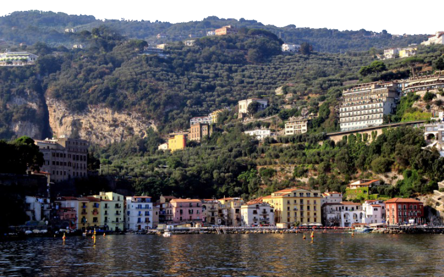 Italian Landscape - Buildings on a Hill PNG Image