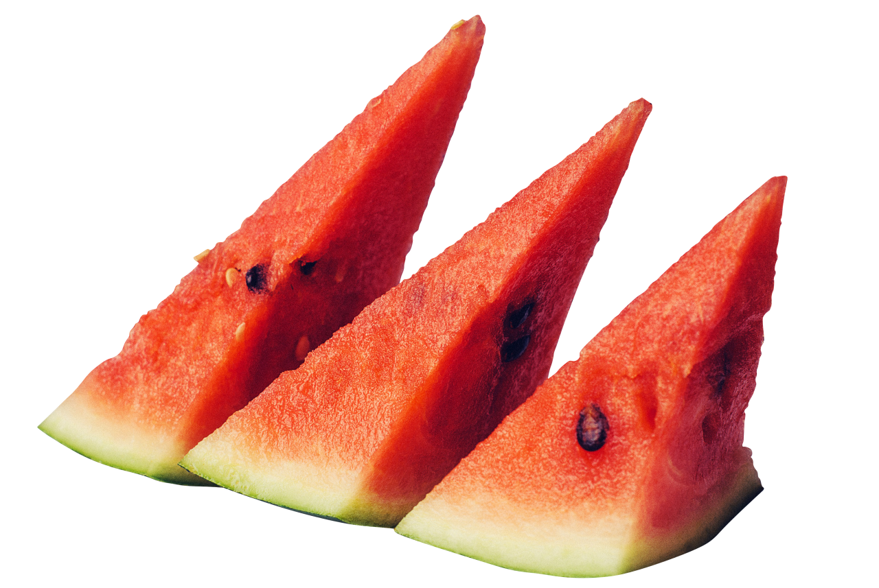 juicy sliced watermelon PNG Image