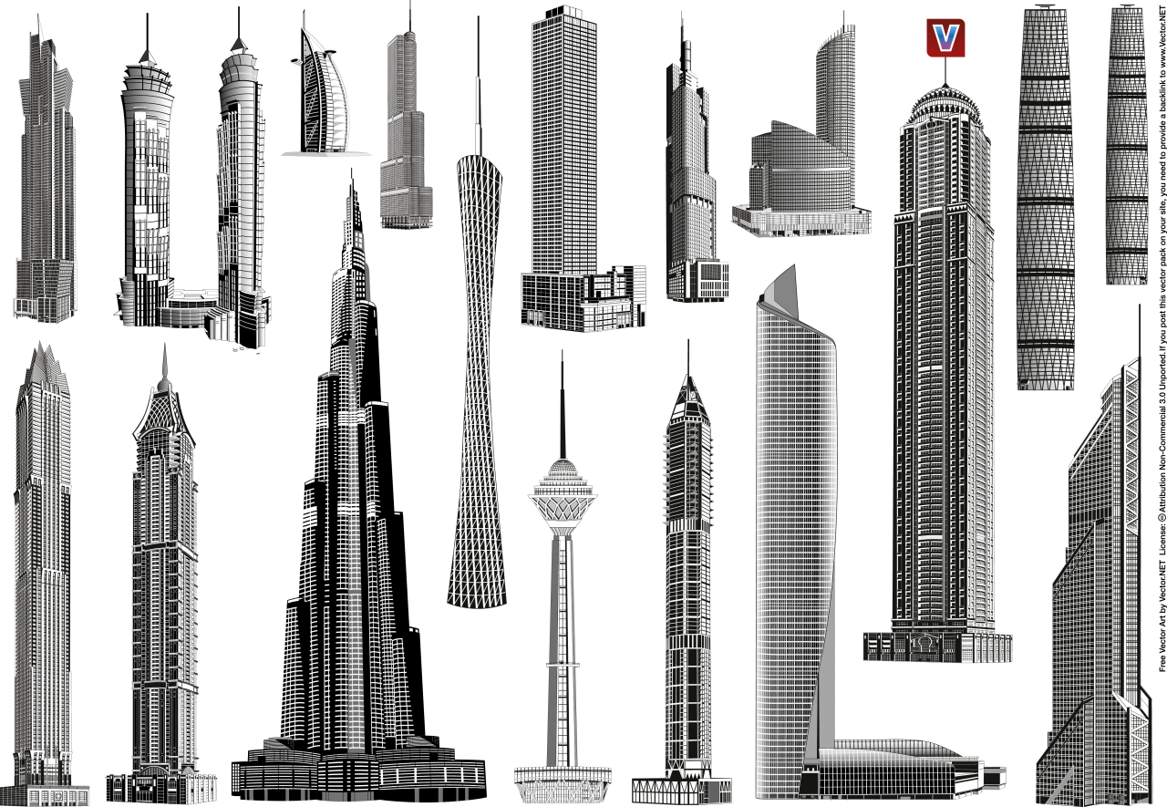 World Towers PNG Image
