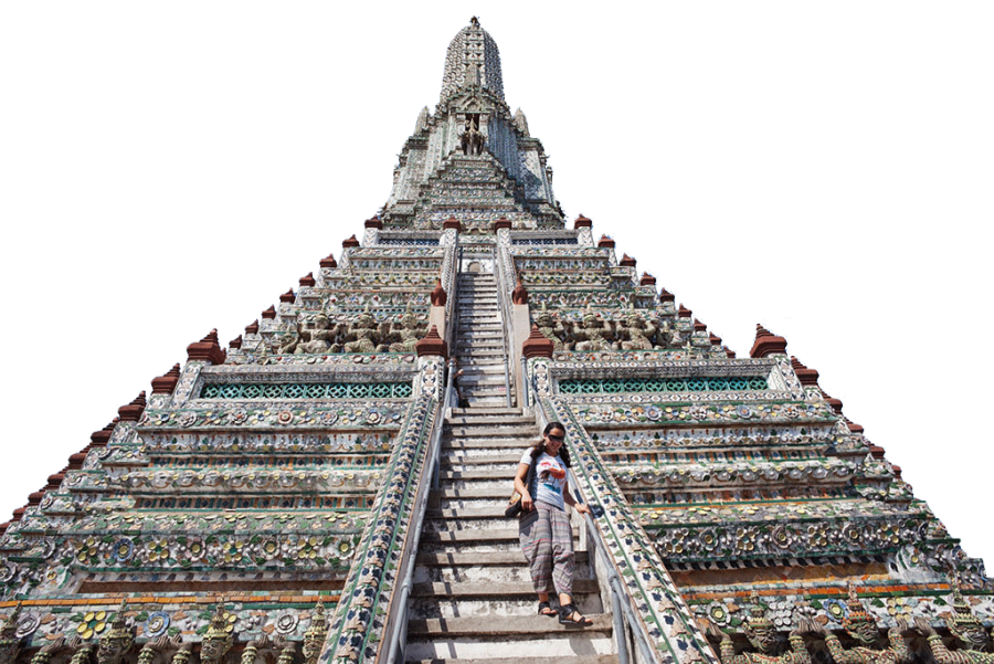 Building with Extreme Staircase PNG Image