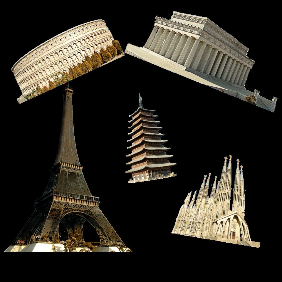 Landmark Buildings  in France PNG Image