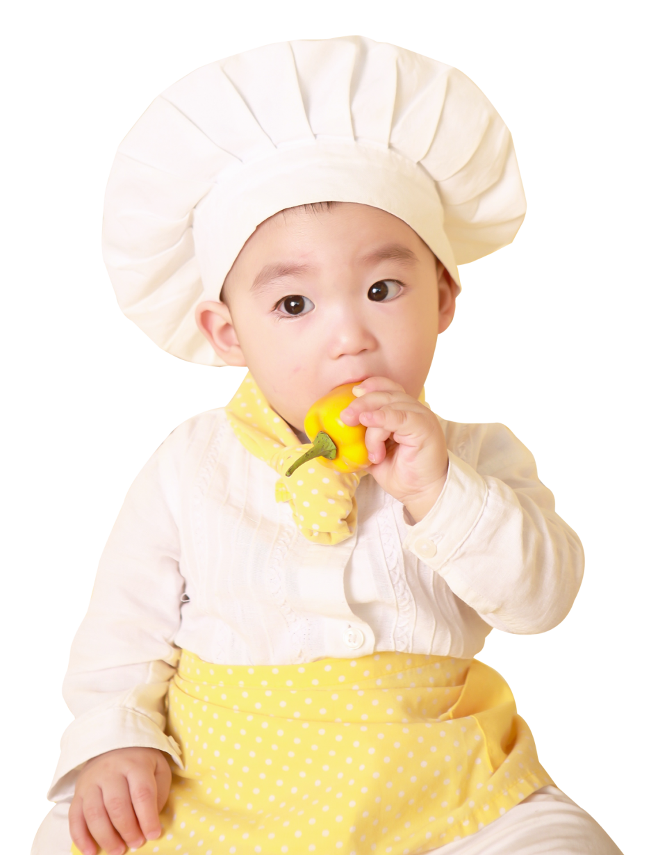 Little Cute Child in Costume of Cook PNG Image