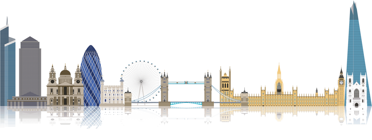 Sights of London PNG Image