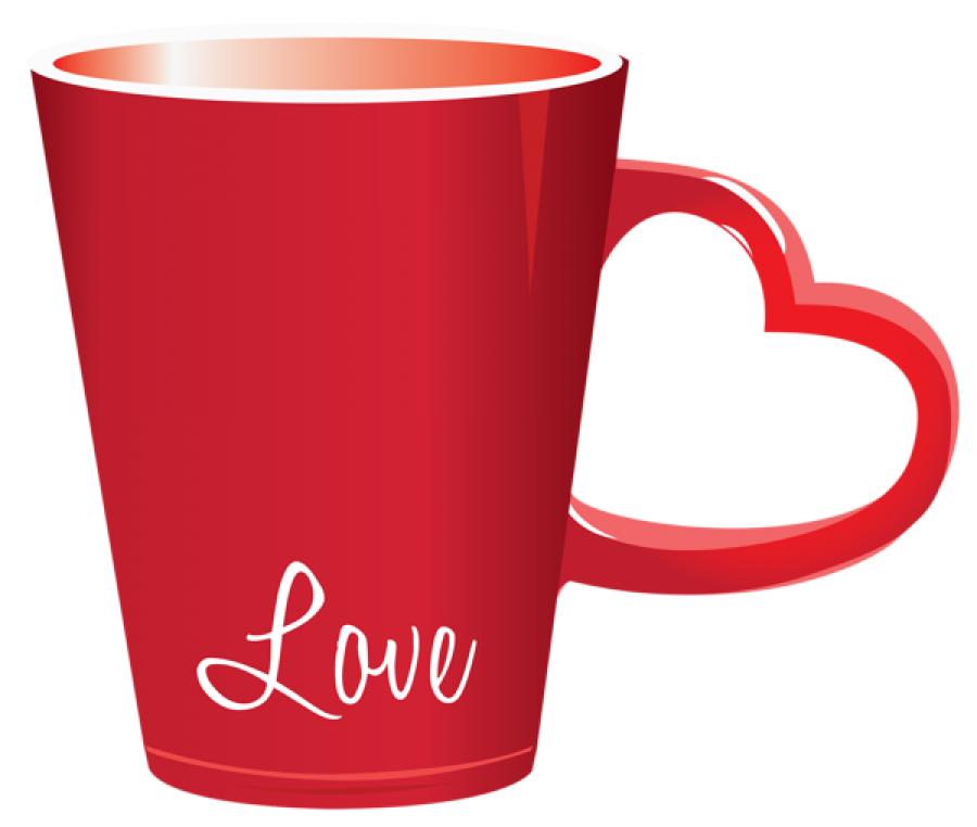 Love Cup with heart handle PNG Image