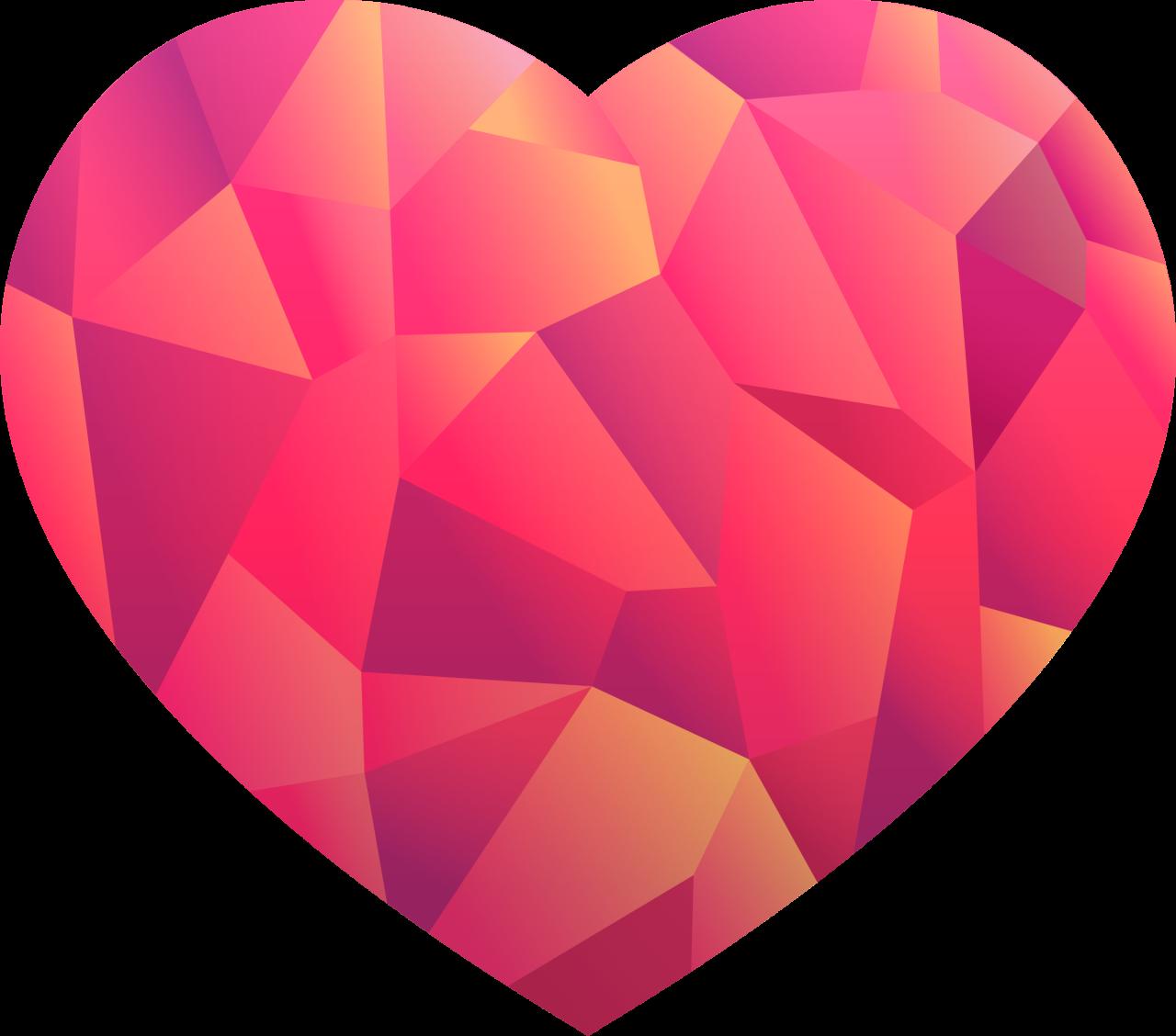 Love Heart Design PNG Image