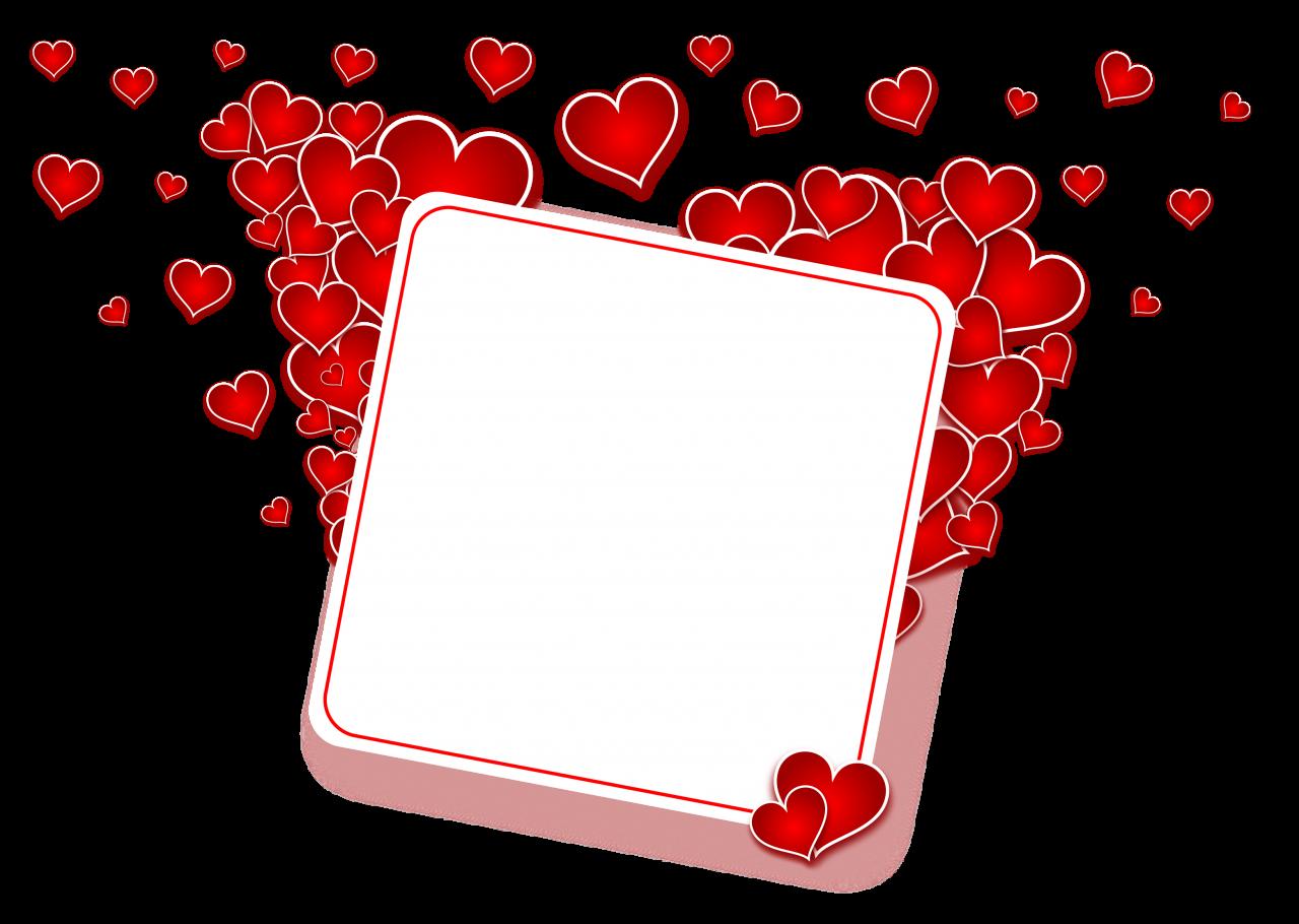 Love Heart Frame PNG Image