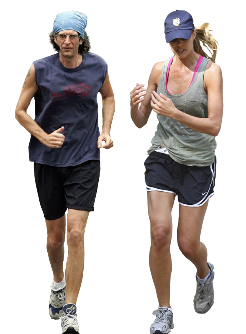 Man and Woman are running PNG Image