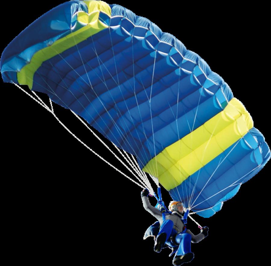 Man skydiving using parachute PNG Image