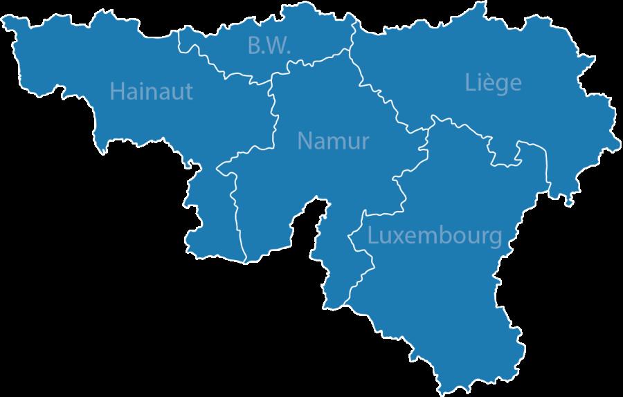 Blue Map of Belgium PNG Image