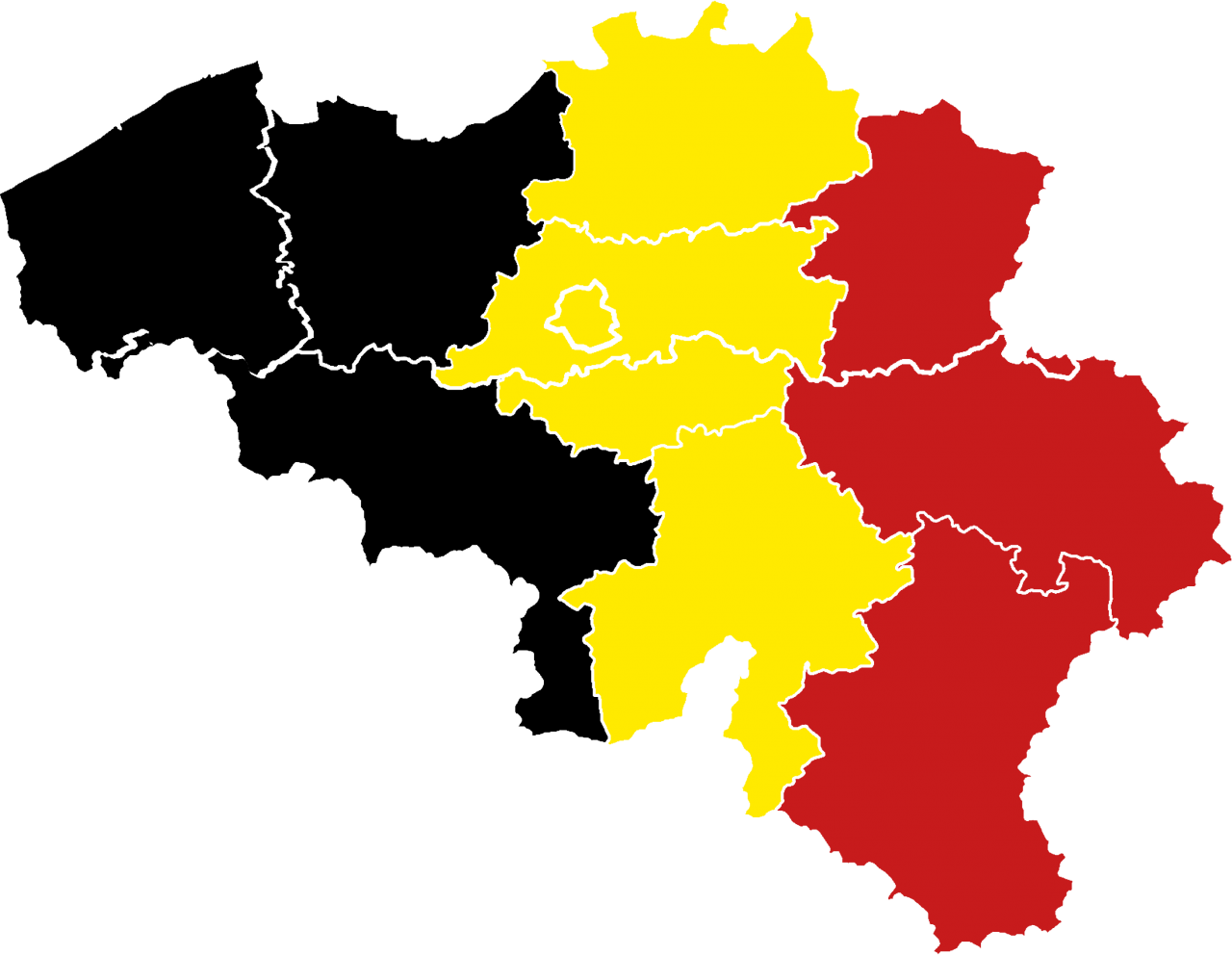 Map of Belgium PNG Image