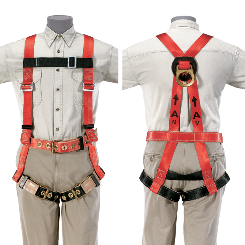 Men Climbing Harness Front and Back PNG Image