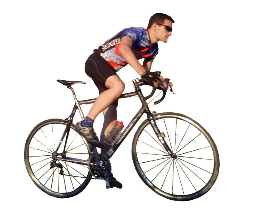 Men Ride Bicycle PNG Image