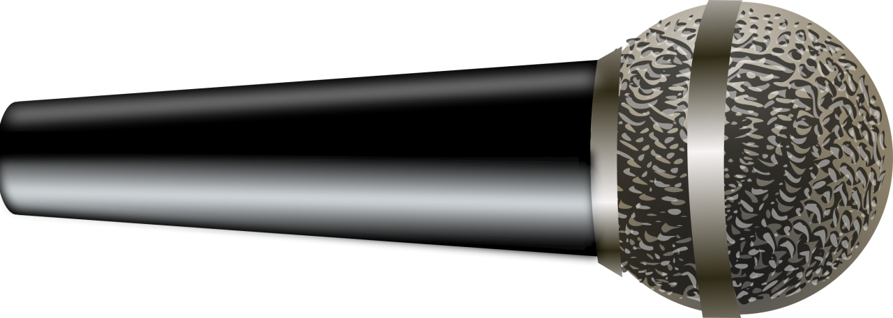 Microphone Lying on a Hard Surface PNG Image