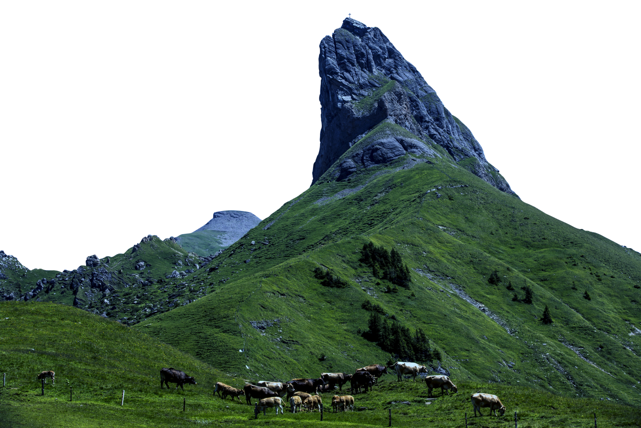 Mountain and Landscape view PNG Image