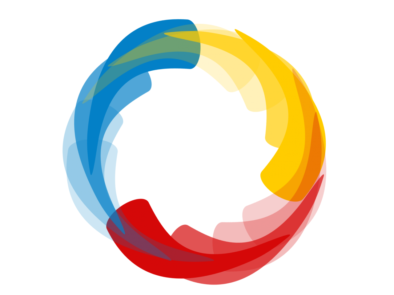 Multi Colors in Circle PNG Image
