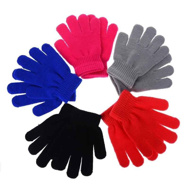 Multicolored Winter Gloves PNG Image