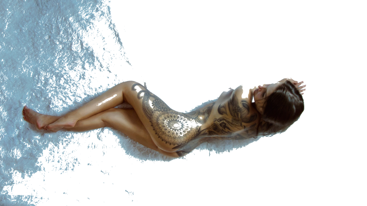 Naked tattoo lady photoshot PNG Image