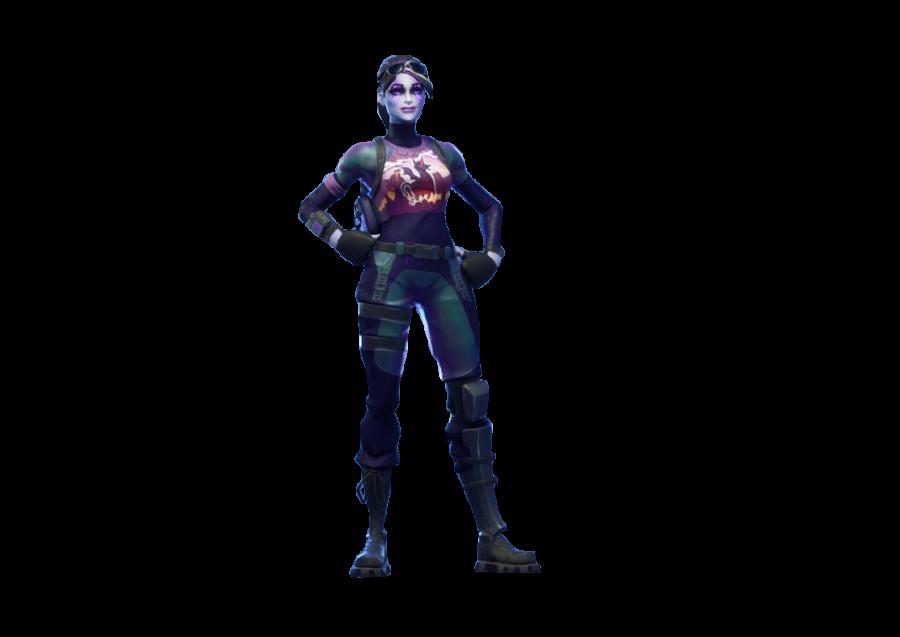 New Dark Bomber Fortnite Full Skin PNG Image