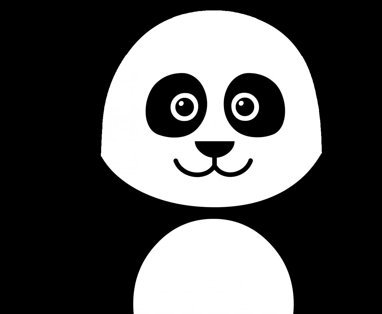 Panda Drawing PNG Image