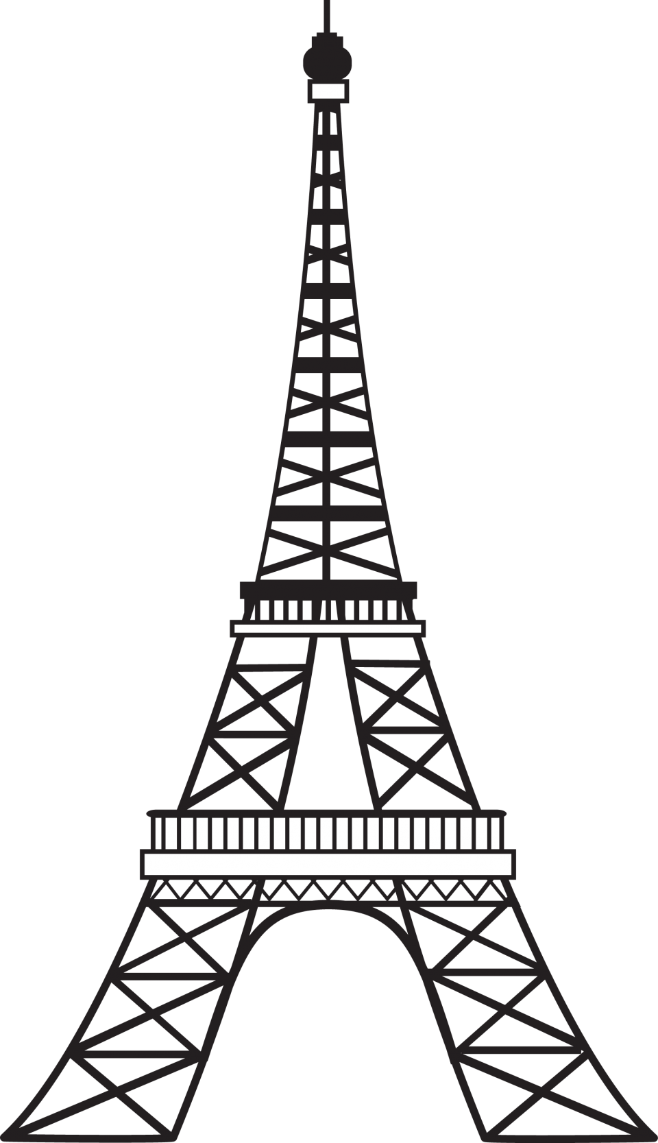 Artist Impression of Eiffel Tower - Paris PNG Image