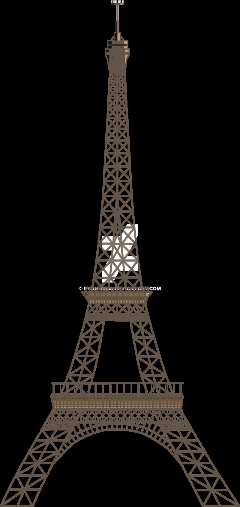 Two Dimensional Eiffel Tower - Paris PNG Image