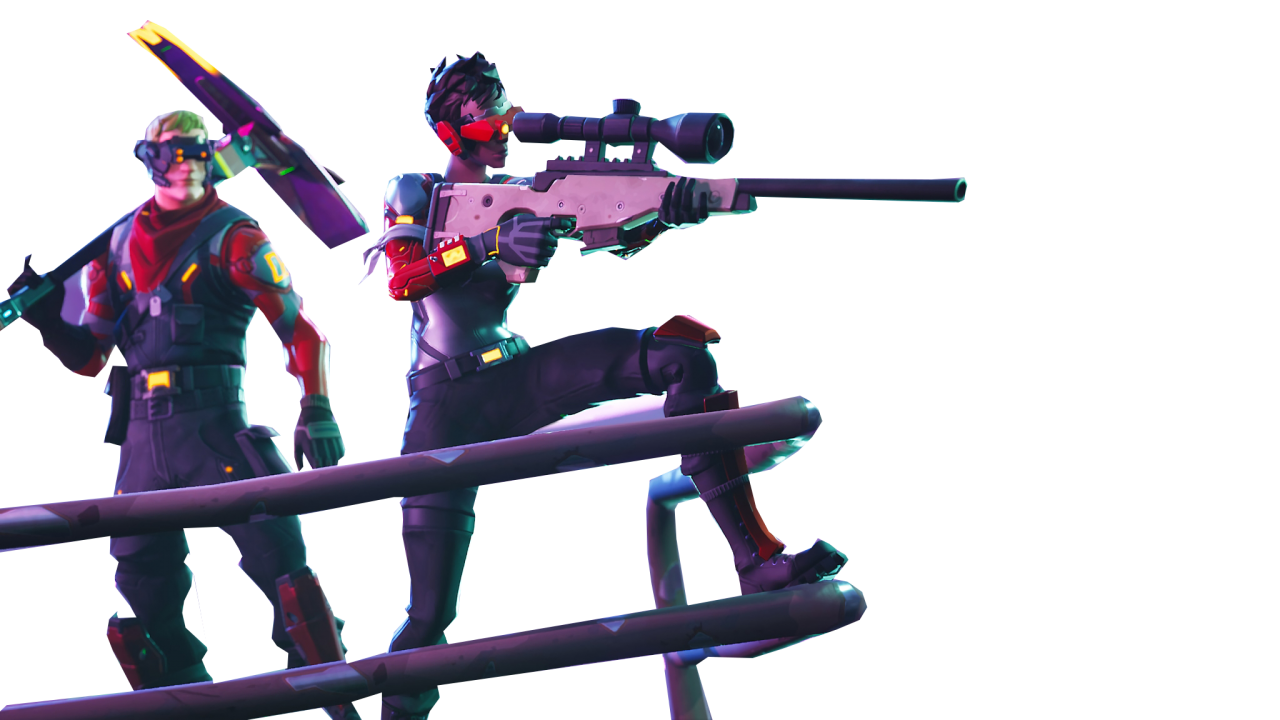 People Aiming Fortnite Thumbnail Template Png Image