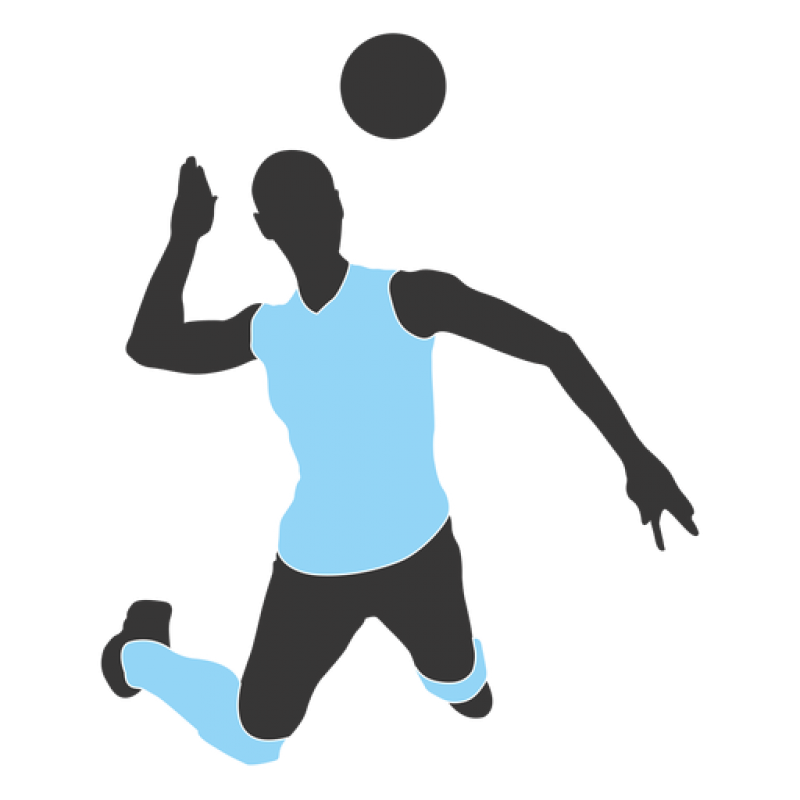 Person Play Volleyball PNG Image