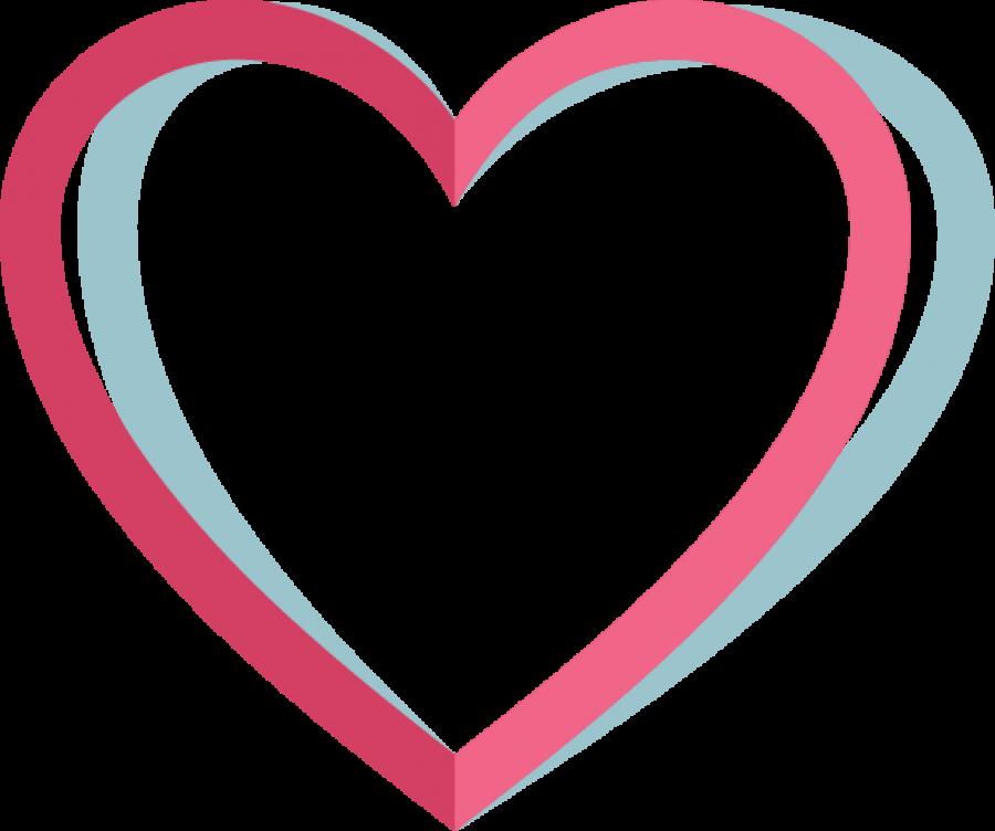 Pink Heart Outline PNG Image