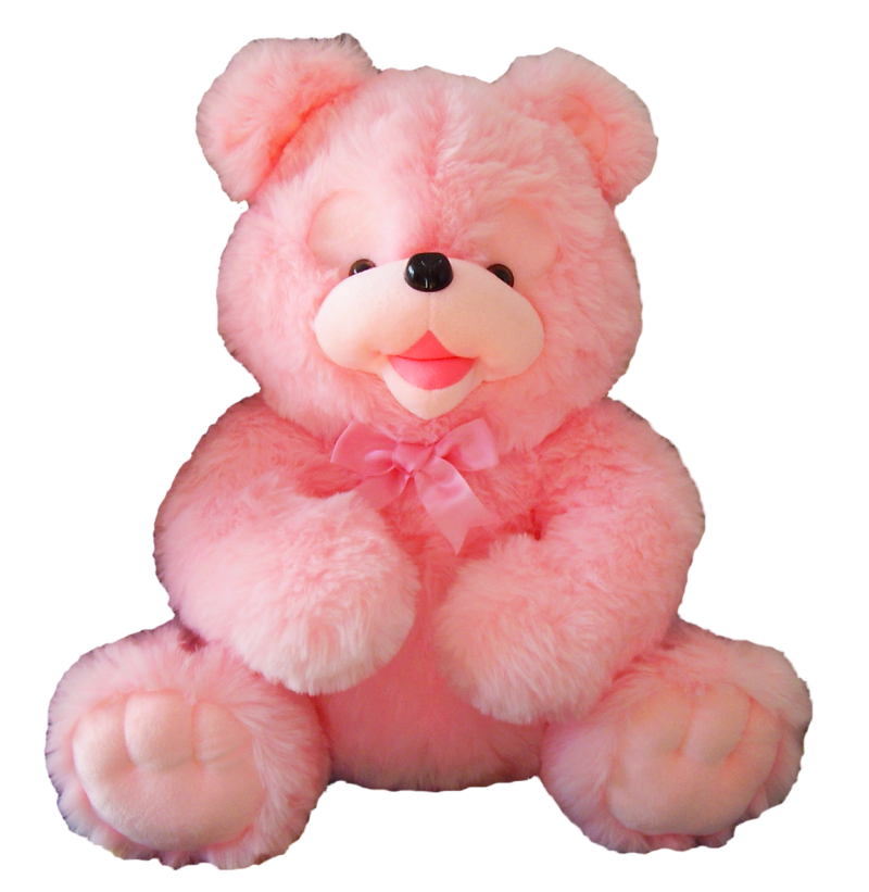 Pink Teddy Bear PNG Image
