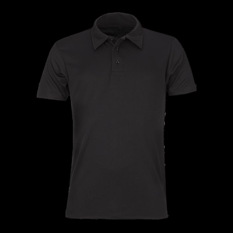 Plain Black Polo Shirt PNG Image