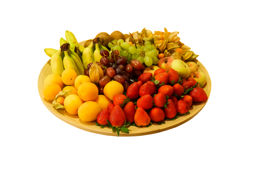 Plate Full of Fruits PNG Image