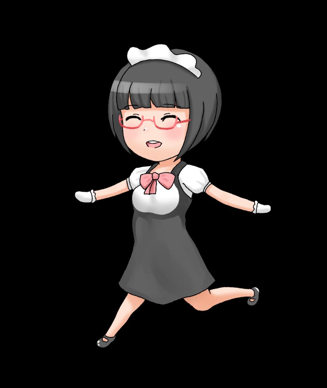 Playing Anime Girl PNG Image