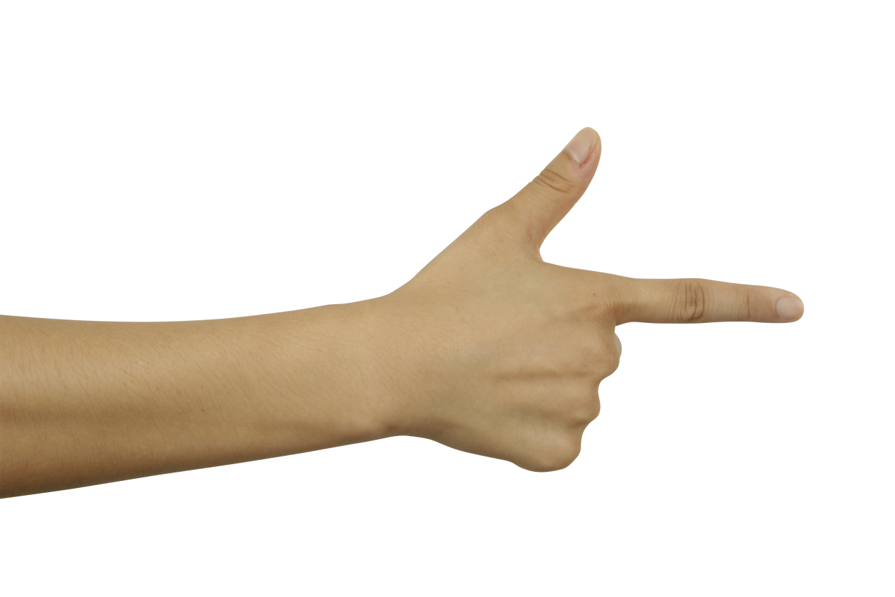 Pointing Finger PNG Image