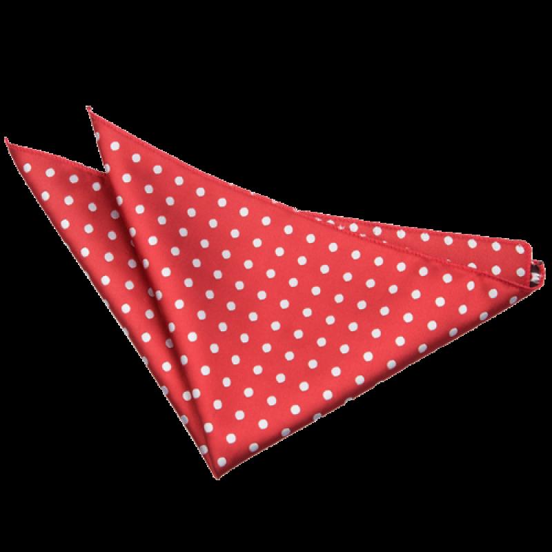 Polka Dot Dark Red Handkerchief PNG Image