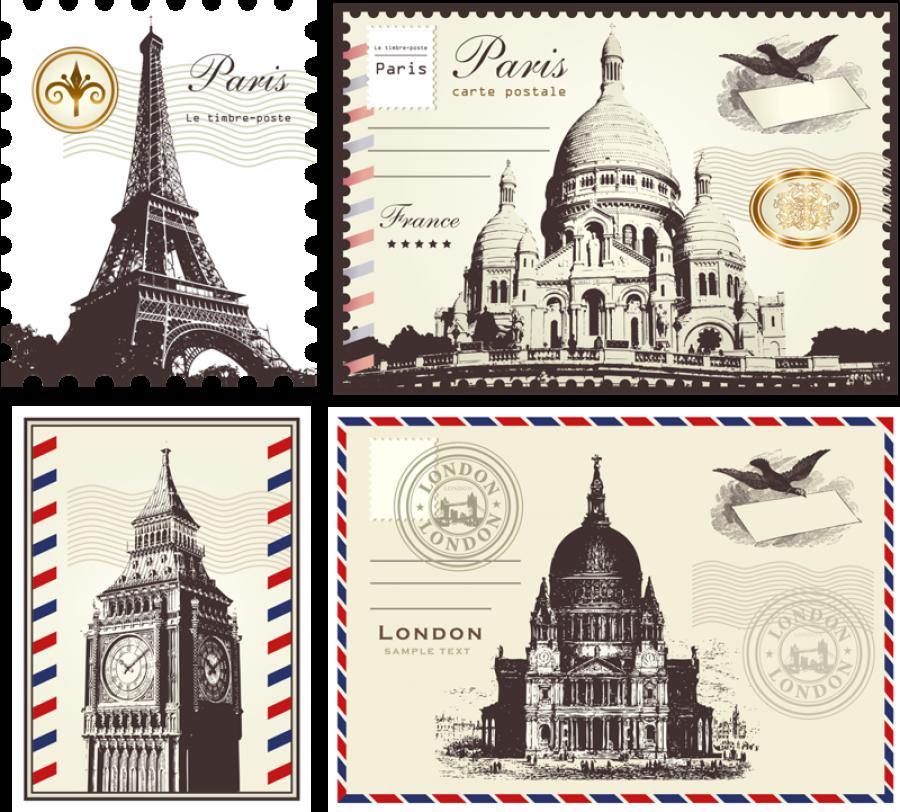 Postage Stamps - France PNG Image