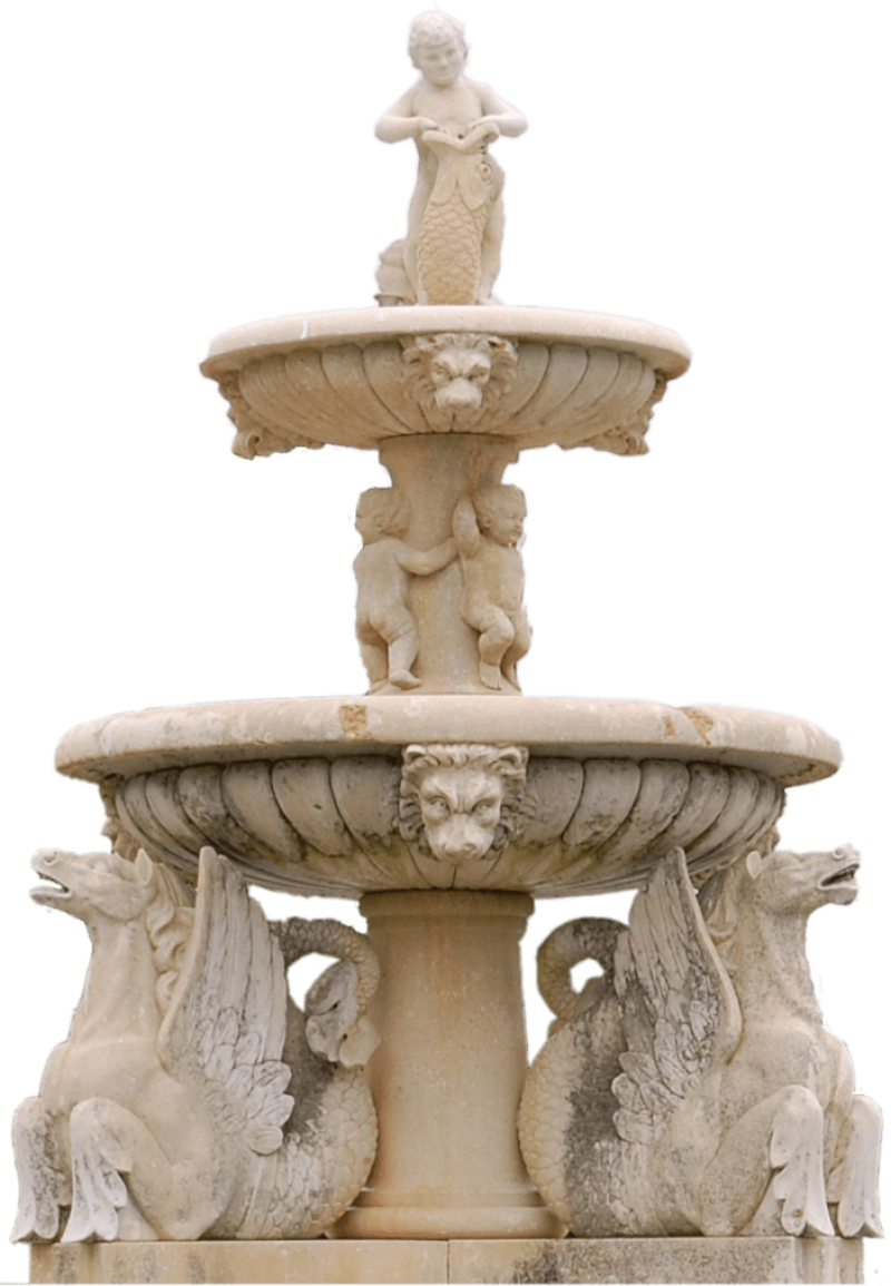 2 Stage Fountain PNG Image